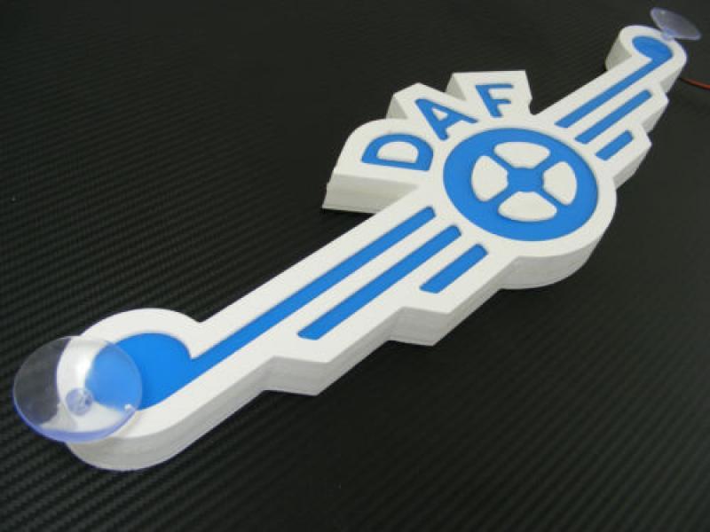Led Neon Plaat Daf Logo Oud Blauw Led Platen Binnen