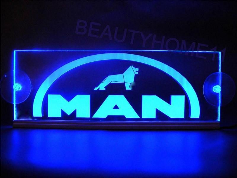 led neon plaat man logo blauw led platen binnen verlichting en led accessoires accessoires. Black Bedroom Furniture Sets. Home Design Ideas