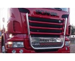 Scania RVS Grille bar met tekst